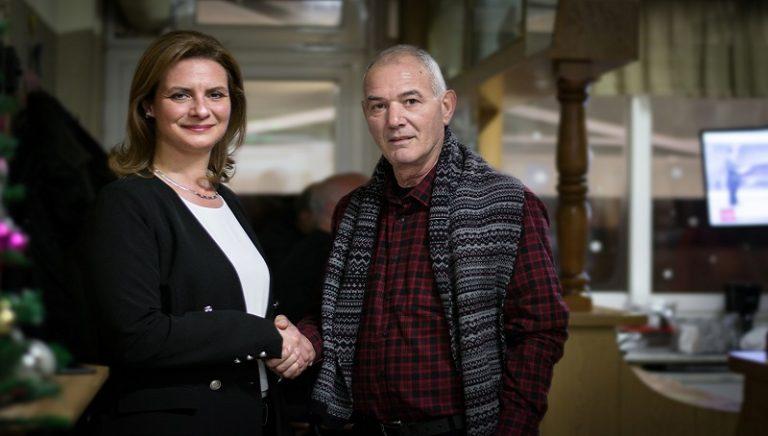 Ο Κώστας Ζαχαρίας έδωσε τα χέρια με τη Μαρία Γκουγκουσκίδου