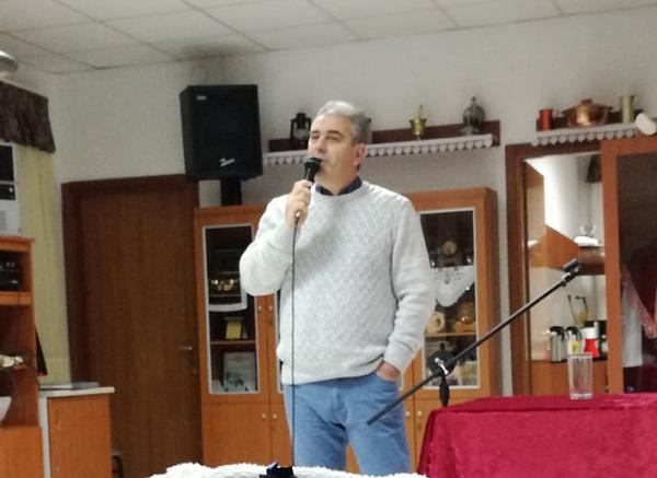 """Το σύλλογο Οινόης """"Το Κρασοχώρι"""" επισκέφθηκε ο υποψήφιος Δήμαρχος Ορεστιάδας Χρήστος Καζαλτζής"""