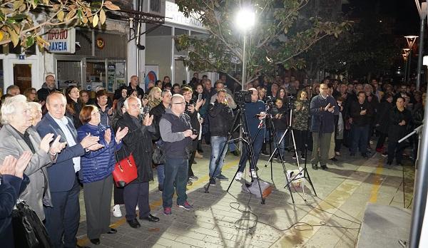 """Ορεστιάδα: Πλήθος κόσμου στα εγκαίνια του εκλογικού κέντρου της """"Δημοτικής Επαναφοράς"""" του Χρήστου Καζαλτζη"""